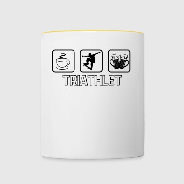 Triathlete skateboard - Contrasting Mug