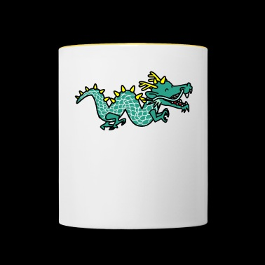 Cartoon Dino cartoon cartoon - Contrasting Mug