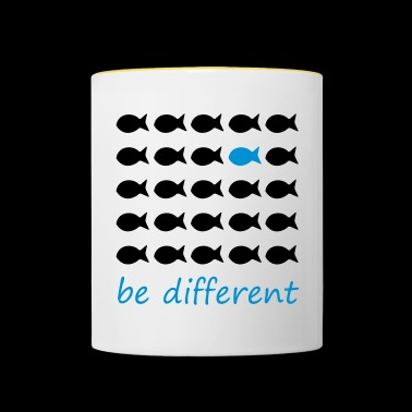 be different - Tasse zweifarbig