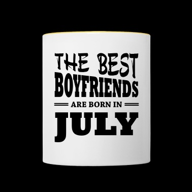 The best boyfriends are born in july - Contrasting Mug
