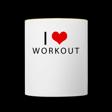 workout - Mug contrasté