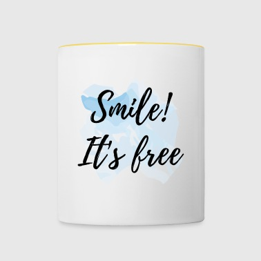 Smile! It's free - Kubek dwukolorowy