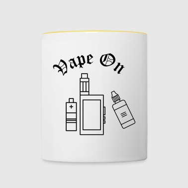 VAPE ON - Kubek dwukolorowy