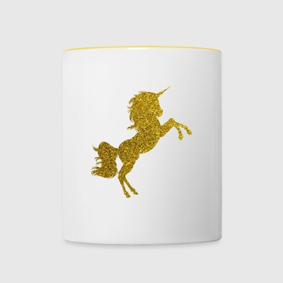 Golden Unicorn - Golden Unicorn Gold Glitter - Tofarget kopp