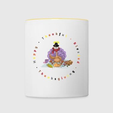 SASSY THANKSGIVING TURKEY C JAxA - Contrasting Mug