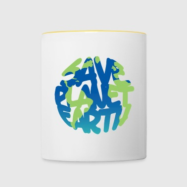 SAVE Planet Earth (Vivid) - Mok tweekleurig