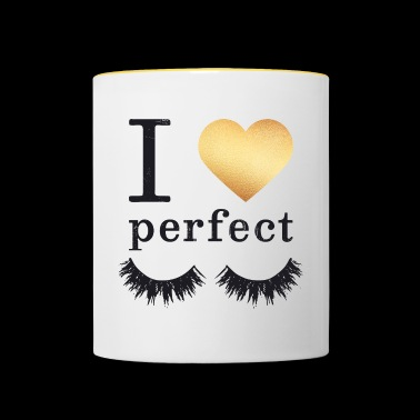 I Love My Perfect Lashes - Mok tweekleurig