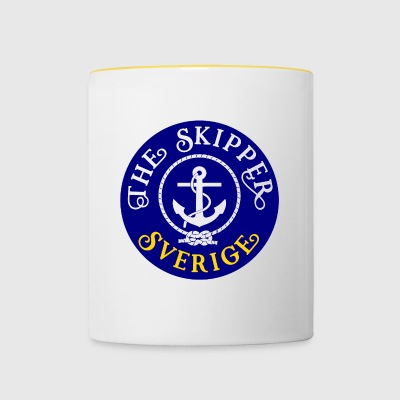 Sailor Skipper Sailing Sweden Anchor Boat Yacht - Contrasting Mug