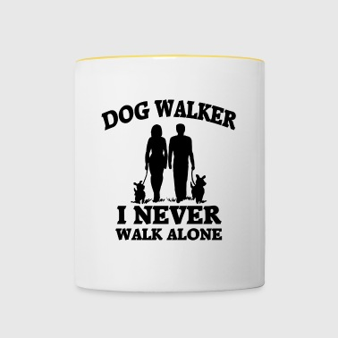 Dog Walker - Tasse zweifarbig