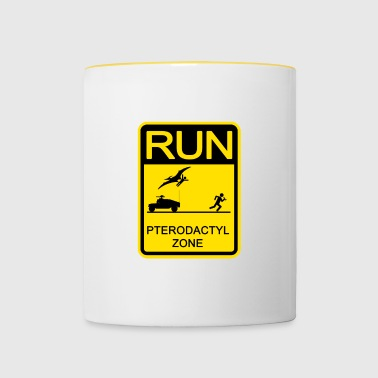 Run! pterodactyls Zone - Mok tweekleurig