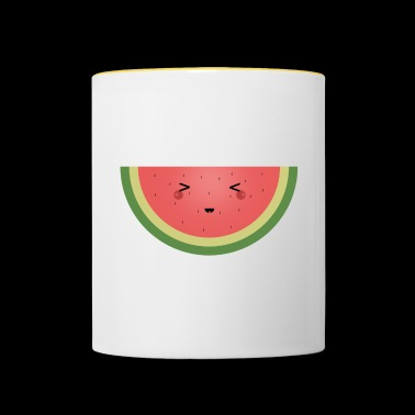 Kawaii watermelon - Contrasting Mug