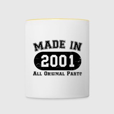 Made in 2001 All Original Parts 16th Birthday - Contrasting Mug