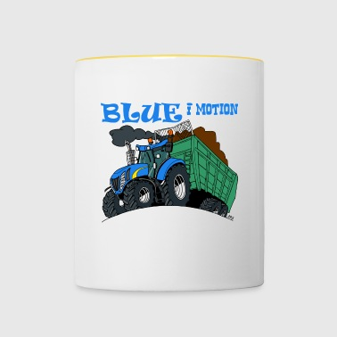 Blue in motion border - Contrasting Mug