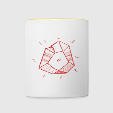 Pierre Philosophe rouge - Tasse bicolore