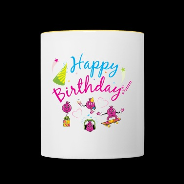 Happy birthday - Contrasting Mug