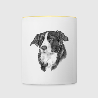 border collie 2 - Kubek dwukolorowy