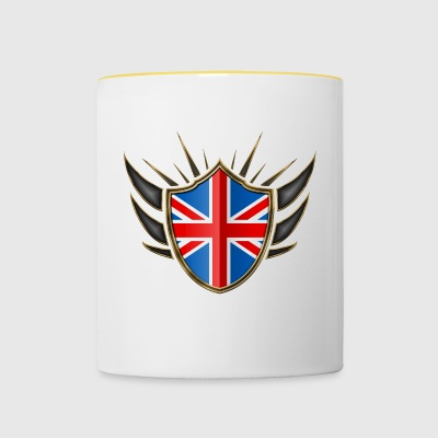 Great Britain Flag Coat of Arms Gold 014 - Contrasting Mug