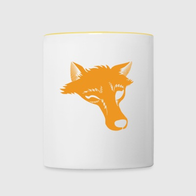 Fox Predator Wild Animal Wildlife Wink - Contrasting Mug