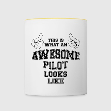 This is what an awesome pilot looks like Gifts - Contrasting Mug