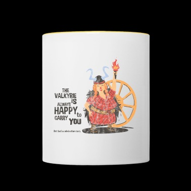 HAPPY TO CARRY YOU - Wikinger und Walküren Shirt - Mug contrasté