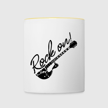 Rock On à la guitare - Mug contrasté