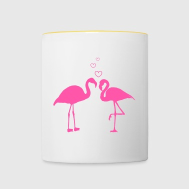 Flamingo love - Contrasting Mug