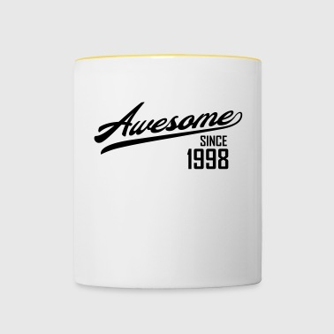 Awesome Since 1998 - Tasse zweifarbig