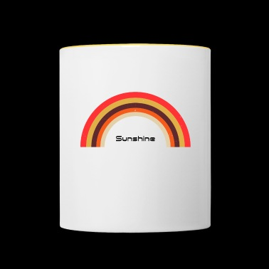 Sunshine Rainbow - Used look - Tasse zweifarbig