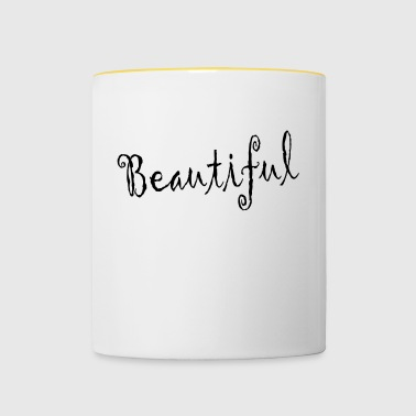 beautiful - Contrasting Mug