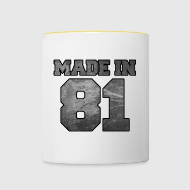 Made in 1981 College Textur - Tasse zweifarbig