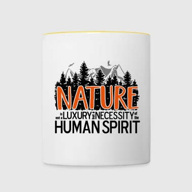 Nature is not a luxury ... for nature lovers! - Contrasting Mug