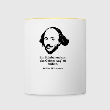 Shakespeare: There is a dust, the spirit of the eye - Contrasting Mug