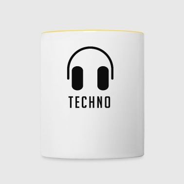 Headphones and techno - Contrasting Mug