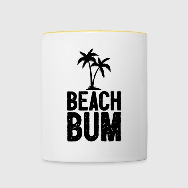 Beach Bum Cool Summer Design - Tvåfärgad mugg