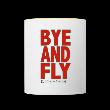 BYE AND FLY Rouge - Mug contrasté