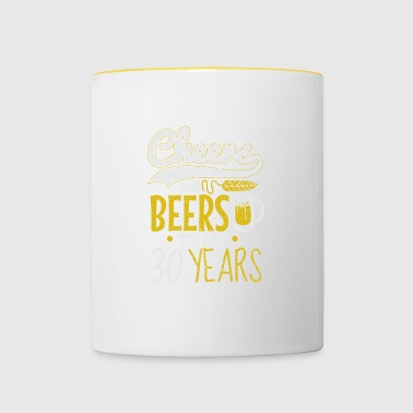 30th birthday / year: Cheers and Beers gift - Contrasting Mug