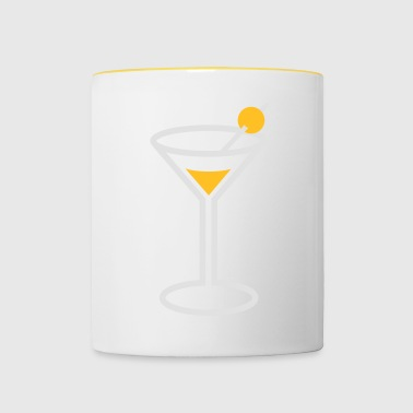 Martini Cocktailglas - Mok tweekleurig