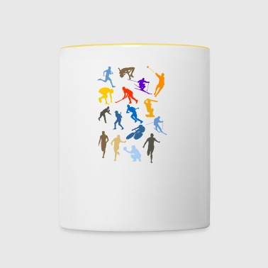 cricket player spieler sports sport2 - Tasse zweifarbig