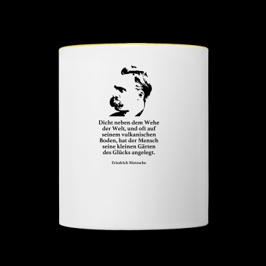 Nietzsche: Close to the woe of the world, and often - Contrasting Mug
