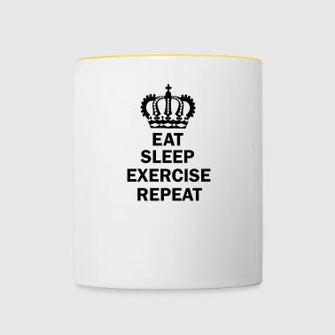 Eat Sleep EXERCISE Repat - Contrasting Mug