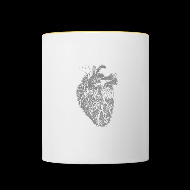 Coeur, X-ray, Zentangle - Mug contrasté