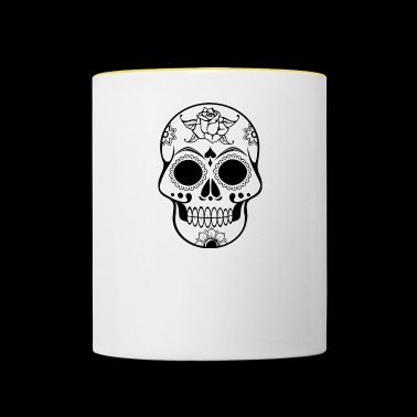 Skull Decorated - Contrasting Mug