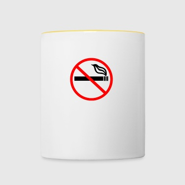 NO SMOKING - Tasse bicolore