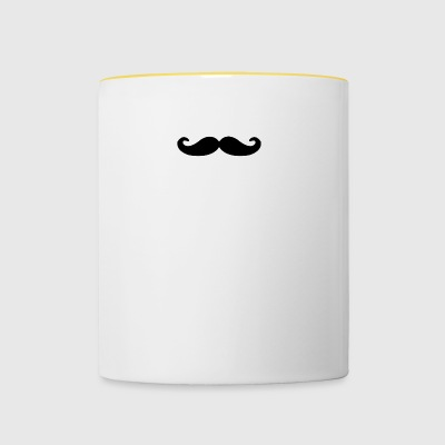i REALLY MUSTACHE - Tasse zweifarbig