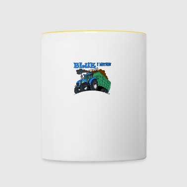 Blue in motion - Contrasting Mug