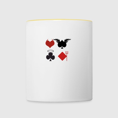 Poker Black Jack Ass Devil Devil Ange Carte Casino - Tasse bicolore