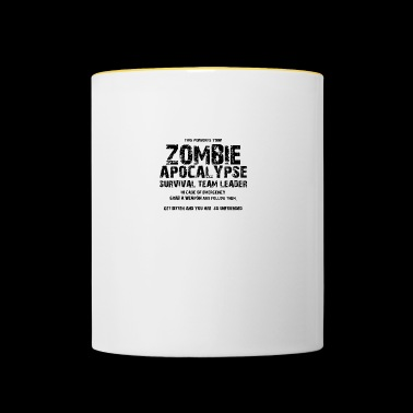 Zombie: This Person Is Your Zombie Apocalypse - Contrasting Mug