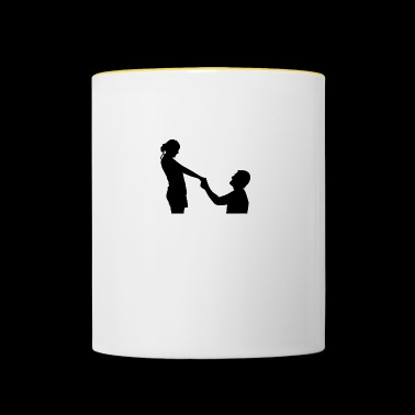 proposal of marriage - Contrasting Mug