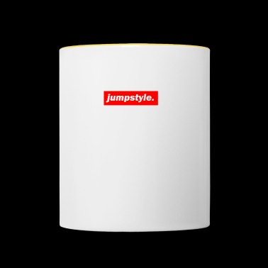 techno mixer red bass bpm jumpstyle - Contrasting Mug