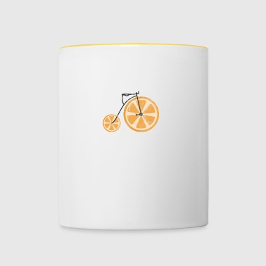 Fruit / Fruit: orange - orange bicycle - Contrasting Mug
